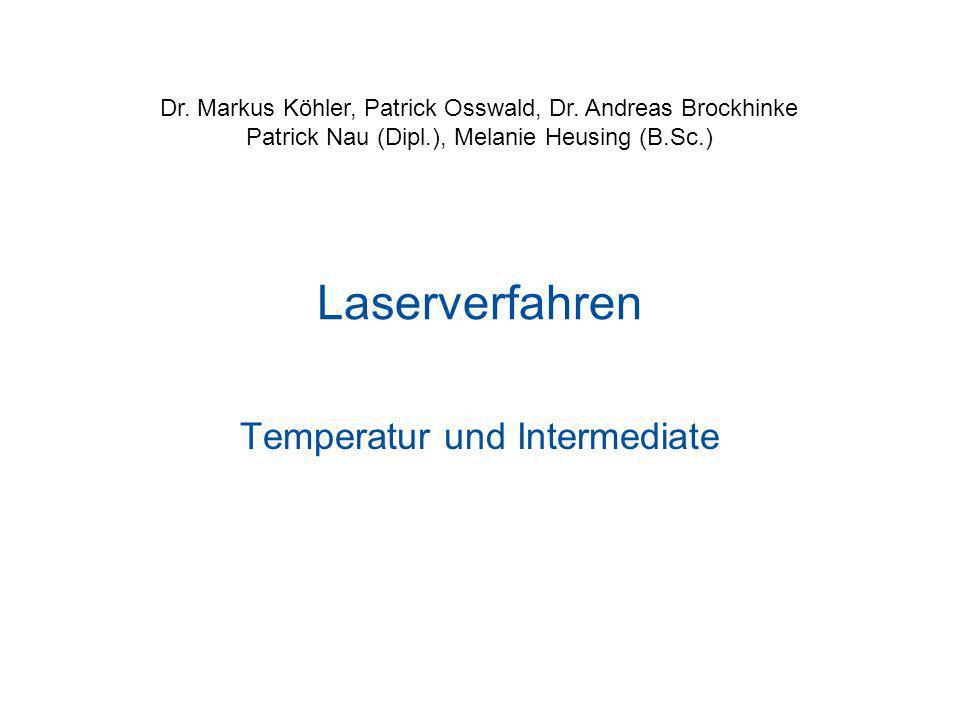 Temperatur und Intermediate