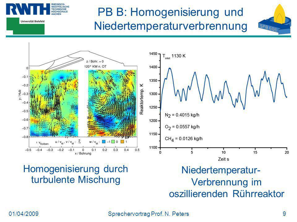 PB B: Homogenisierung und Niedertemperaturverbrennung
