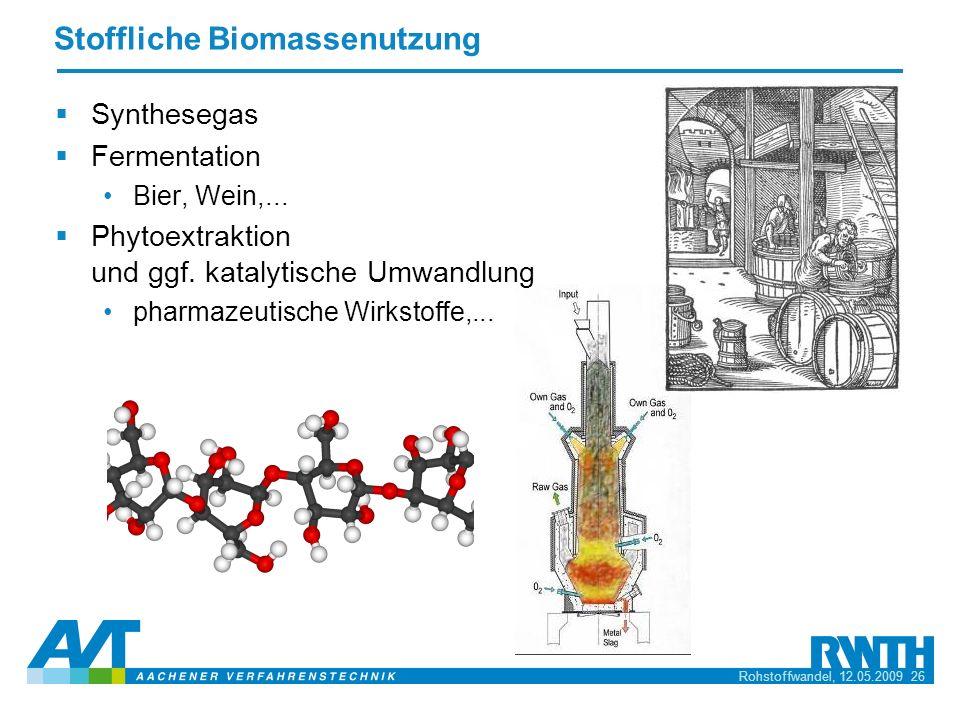 Stoffliche Biomassenutzung