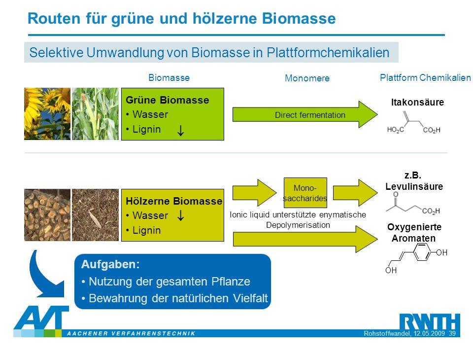 Routen für grüne und hölzerne Biomasse