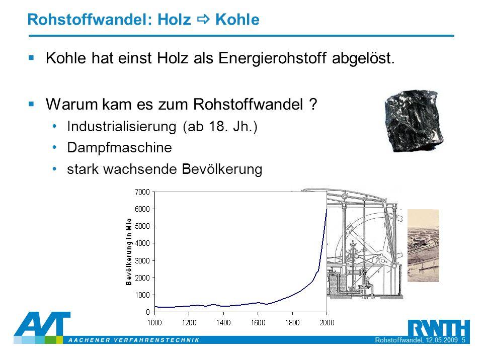 Rohstoffwandel: Holz _ Kohle