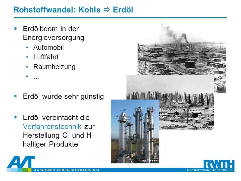 Rohstoffwandel: Kohle _ Erdöl