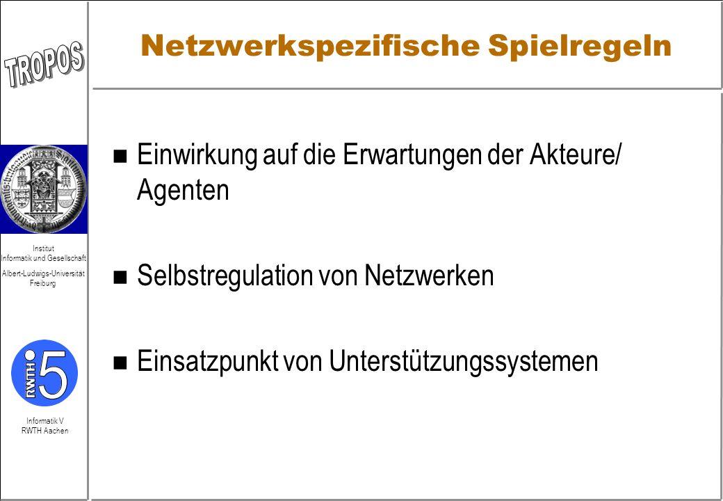 Netzwerkspezifische Spielregeln