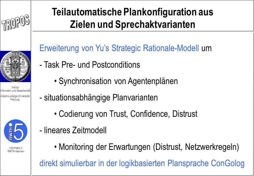 Teilautomatische Plankonfiguration aus Zielen und Sprechaktvarianten