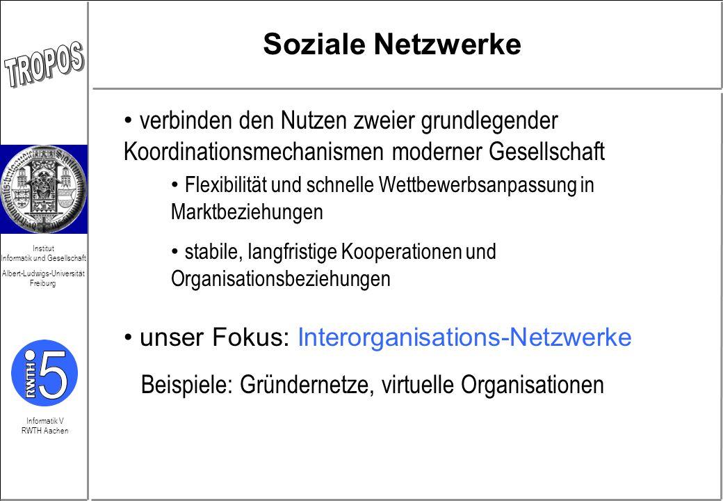 Soziale Netzwerke verbinden den Nutzen zweier grundlegender Koordinationsmechanismen moderner Gesellschaft.