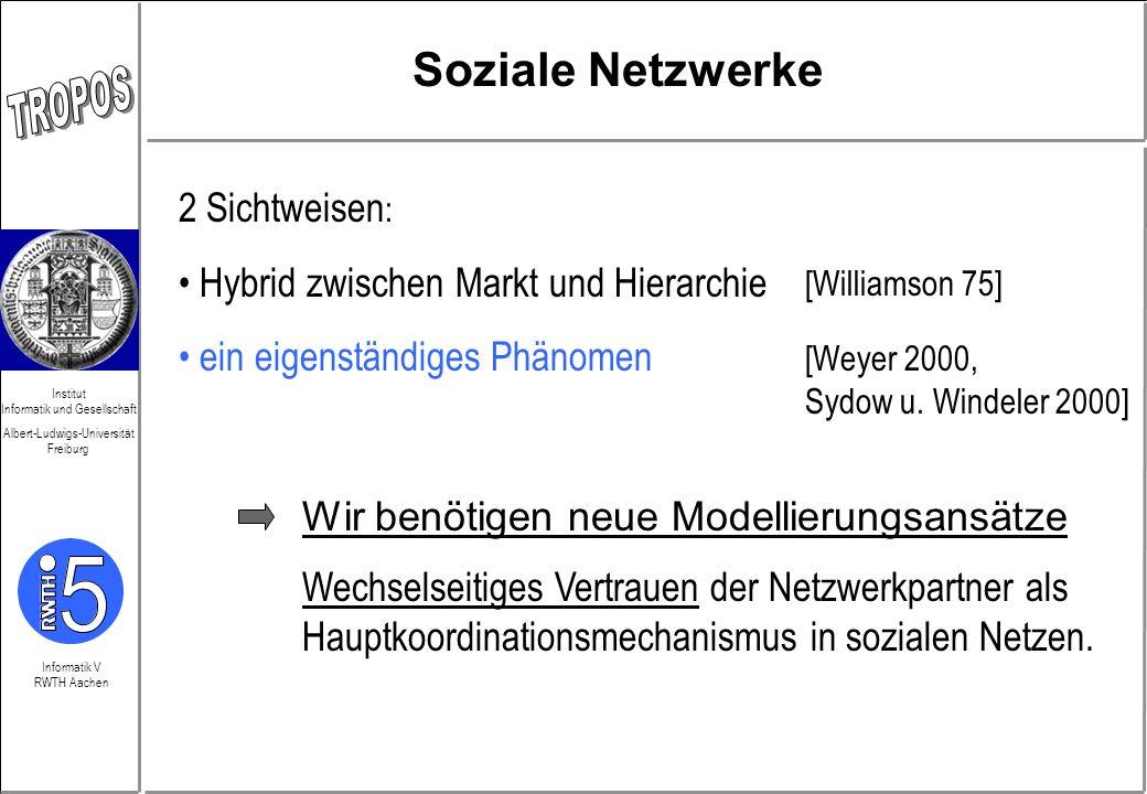Soziale Netzwerke 2 Sichtweisen: Hybrid zwischen Markt und Hierarchie
