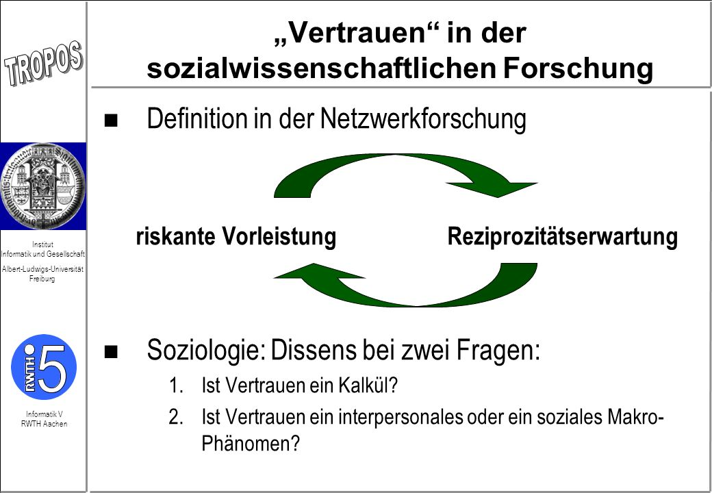 """""""Vertrauen in der sozialwissenschaftlichen Forschung"""