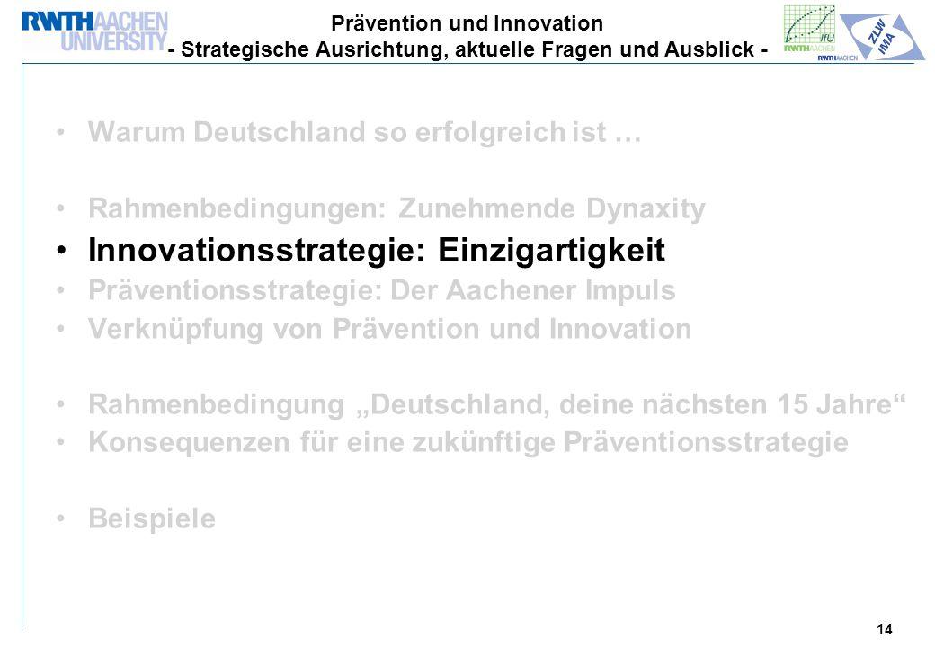 Innovationsstrategie: Einzigartigkeit