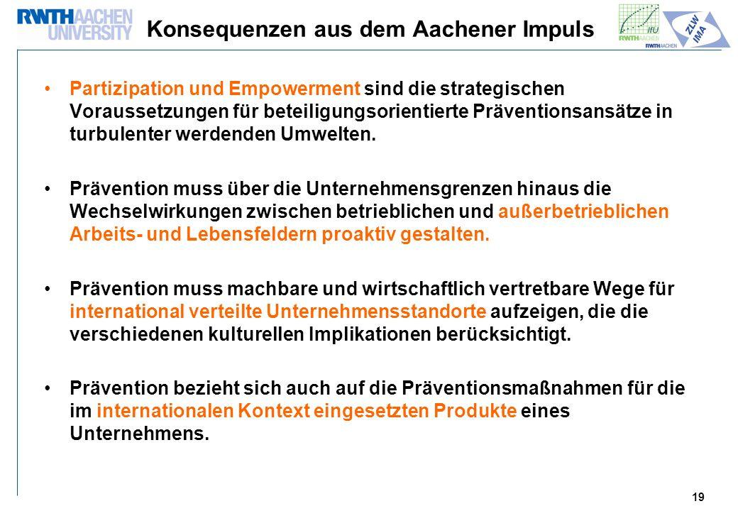 Konsequenzen aus dem Aachener Impuls