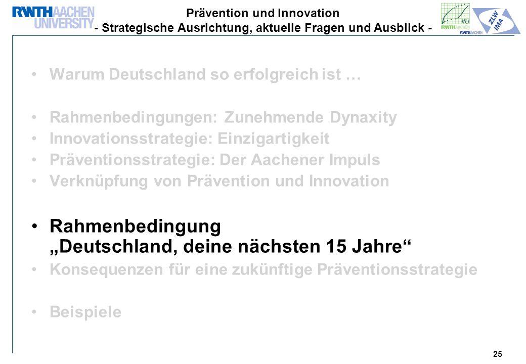 """Rahmenbedingung """"Deutschland, deine nächsten 15 Jahre"""