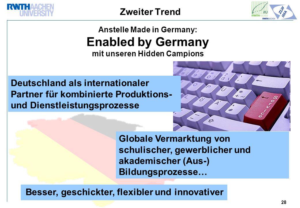 Anstelle Made in Germany: mit unseren Hidden Campions