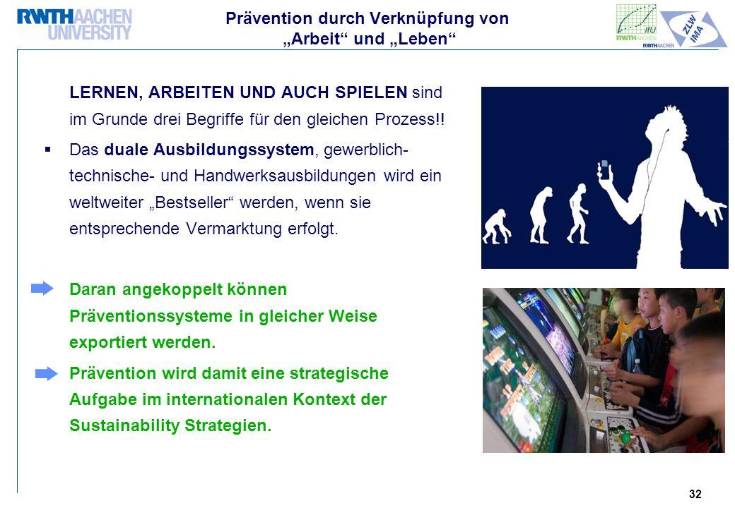 """Prävention durch Verknüpfung von """"Arbeit und """"Leben"""