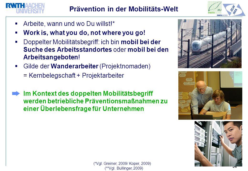 Prävention in der Mobilitäts-Welt