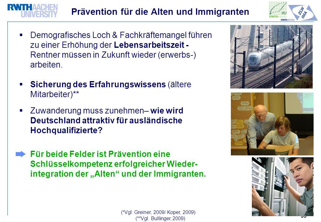 Prävention für die Alten und Immigranten