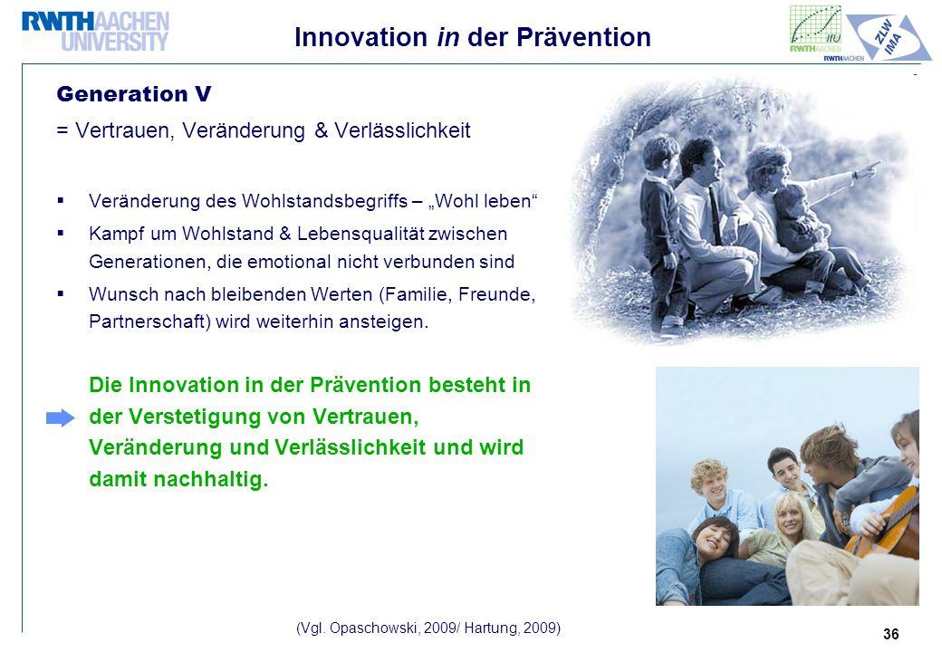 Innovation in der Prävention