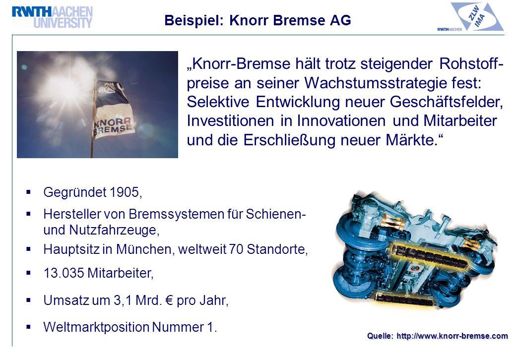 Beispiel: Knorr Bremse AG