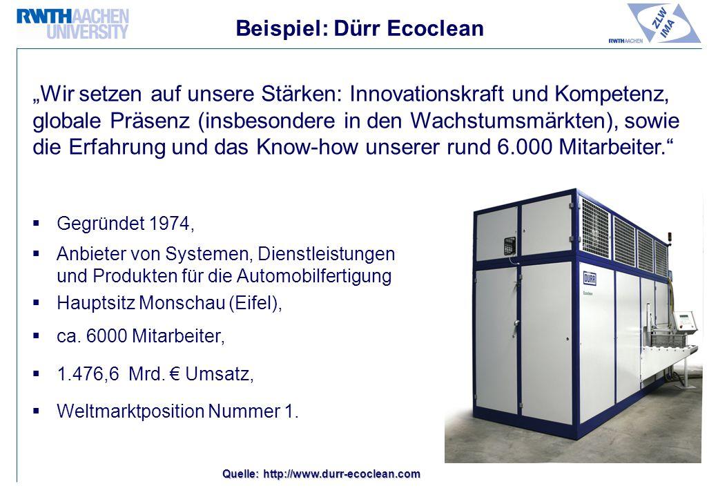 Beispiel: Dürr Ecoclean
