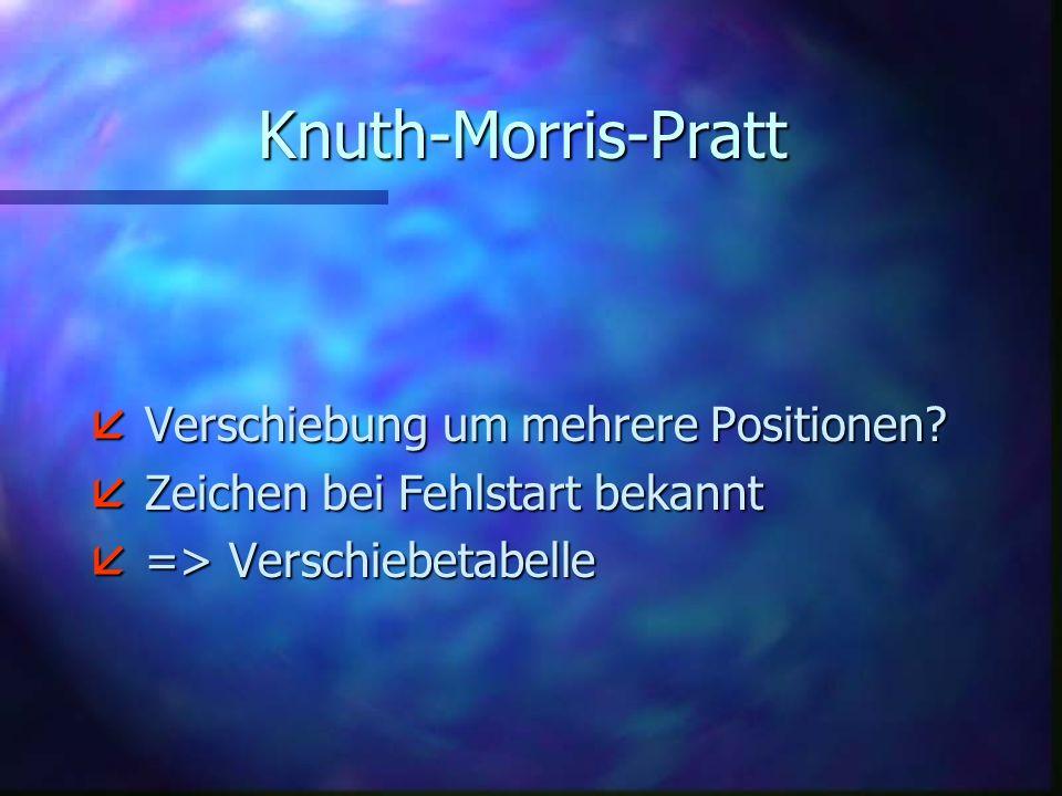 Knuth-Morris-Pratt Verschiebung um mehrere Positionen