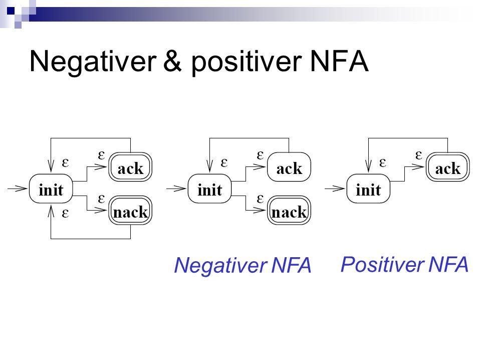 Negativer & positiver NFA