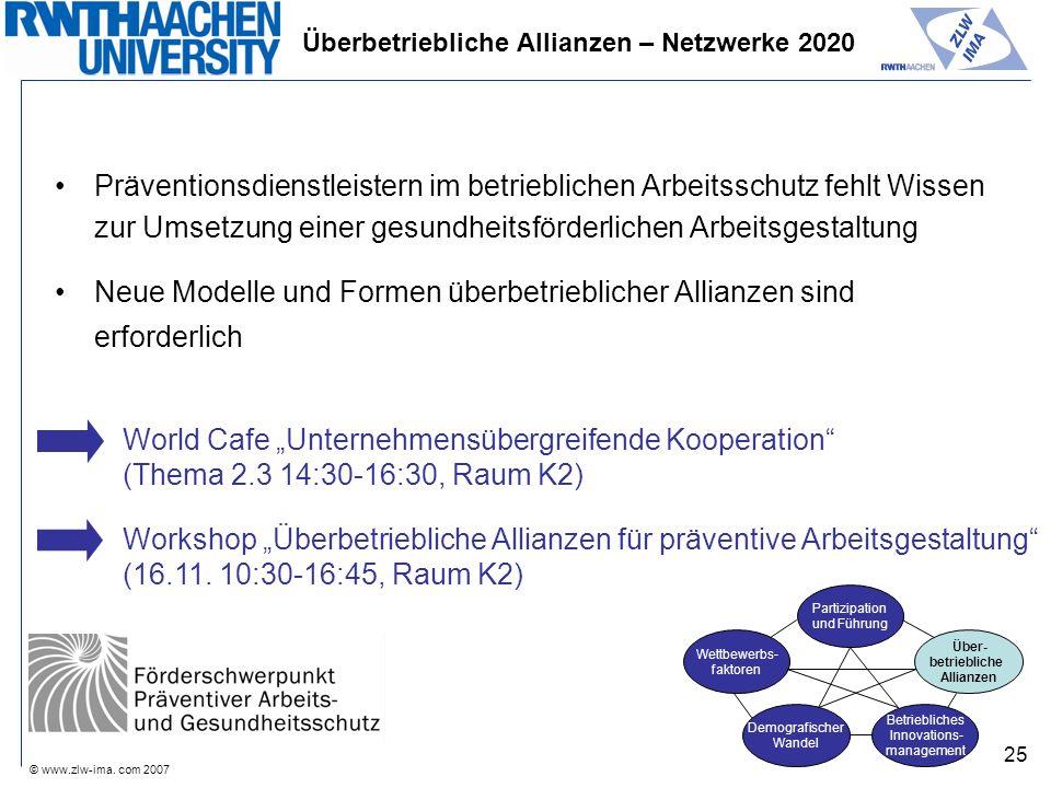 Überbetriebliche Allianzen – Netzwerke 2020