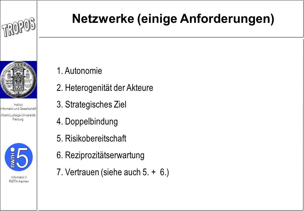 Netzwerke (einige Anforderungen)