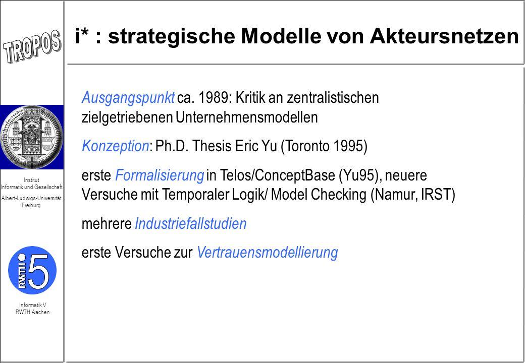 i* : strategische Modelle von Akteursnetzen