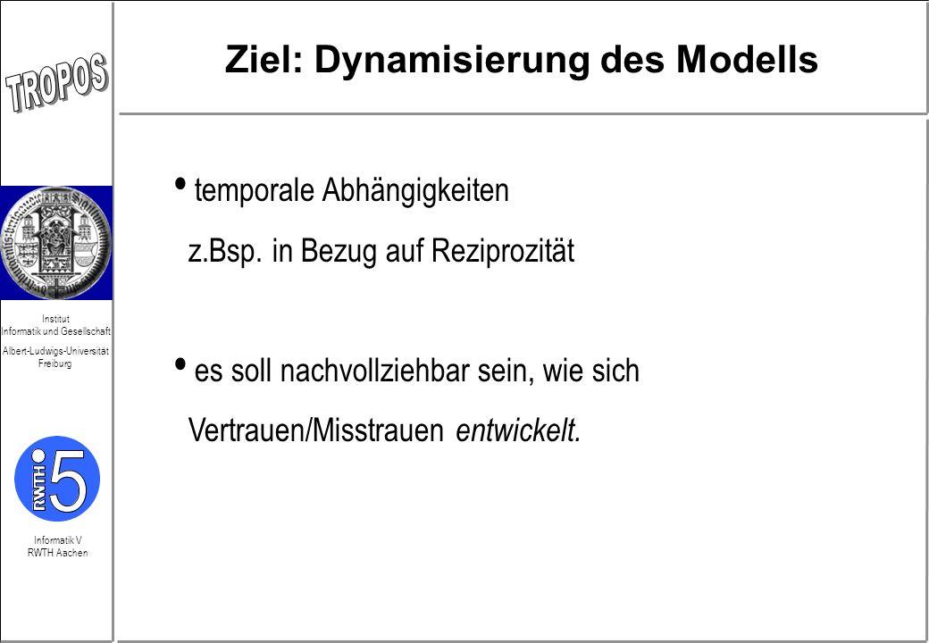 Ziel: Dynamisierung des Modells