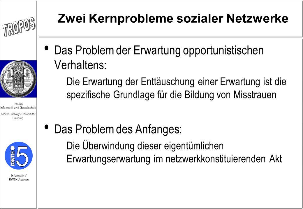 Zwei Kernprobleme sozialer Netzwerke