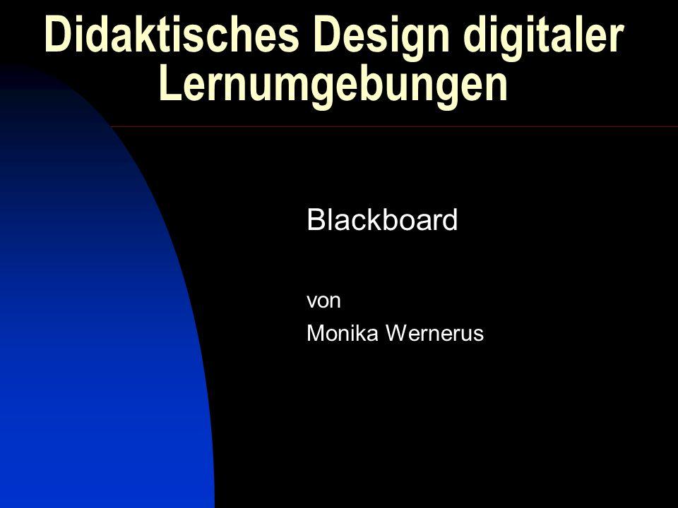 Didaktisches Design digitaler Lernumgebungen