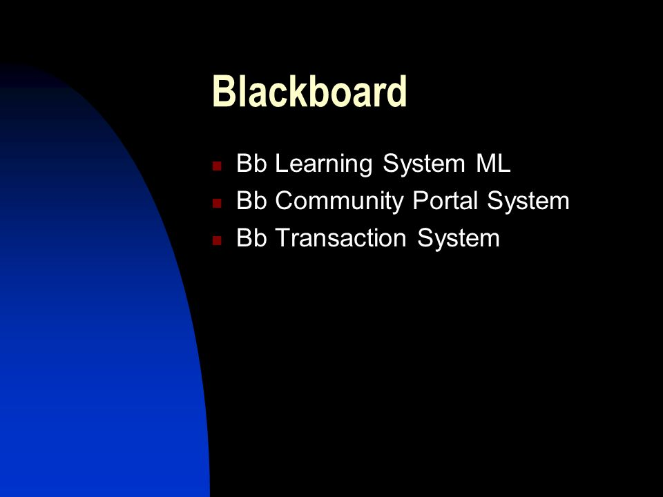 Blackboard Bb Learning System ML Bb Community Portal System