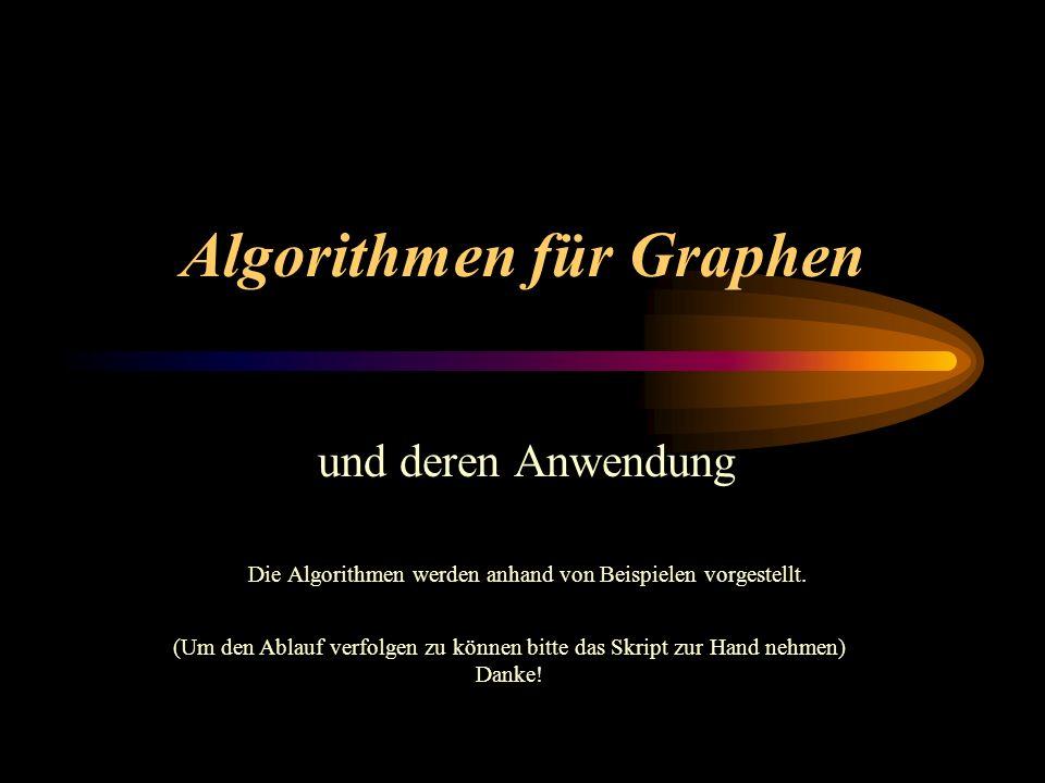 Algorithmen für Graphen
