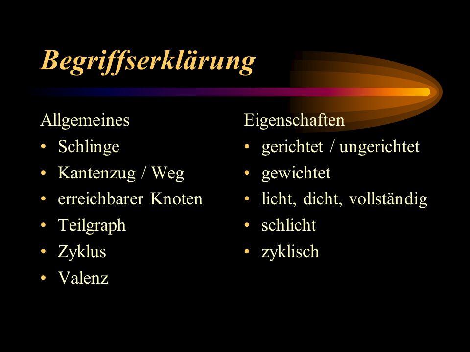 Begriffserklärung Allgemeines Schlinge Kantenzug / Weg