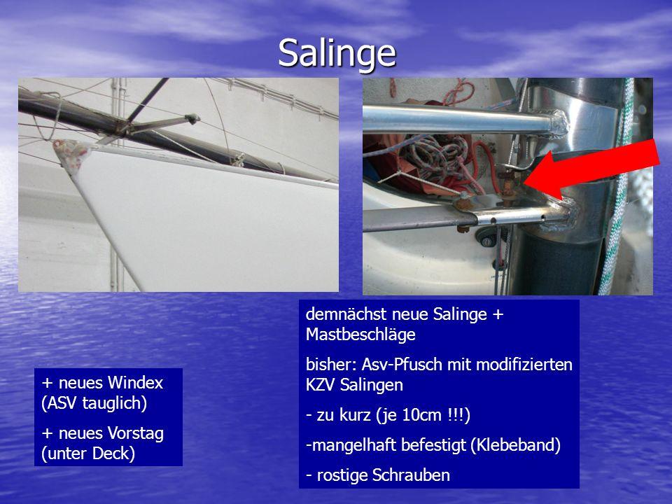 Salinge demnächst neue Salinge + Mastbeschläge
