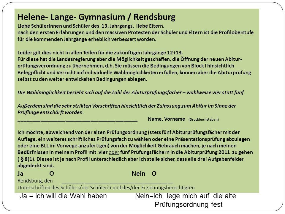 Helene- Lange- Gymnasium / Rendsburg