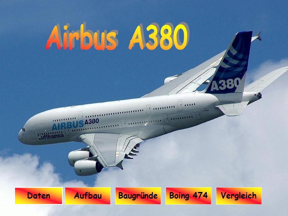 Präsentation AIRBUS A380 Airbus A380 Daten Aufbau Baugründe Boing 474