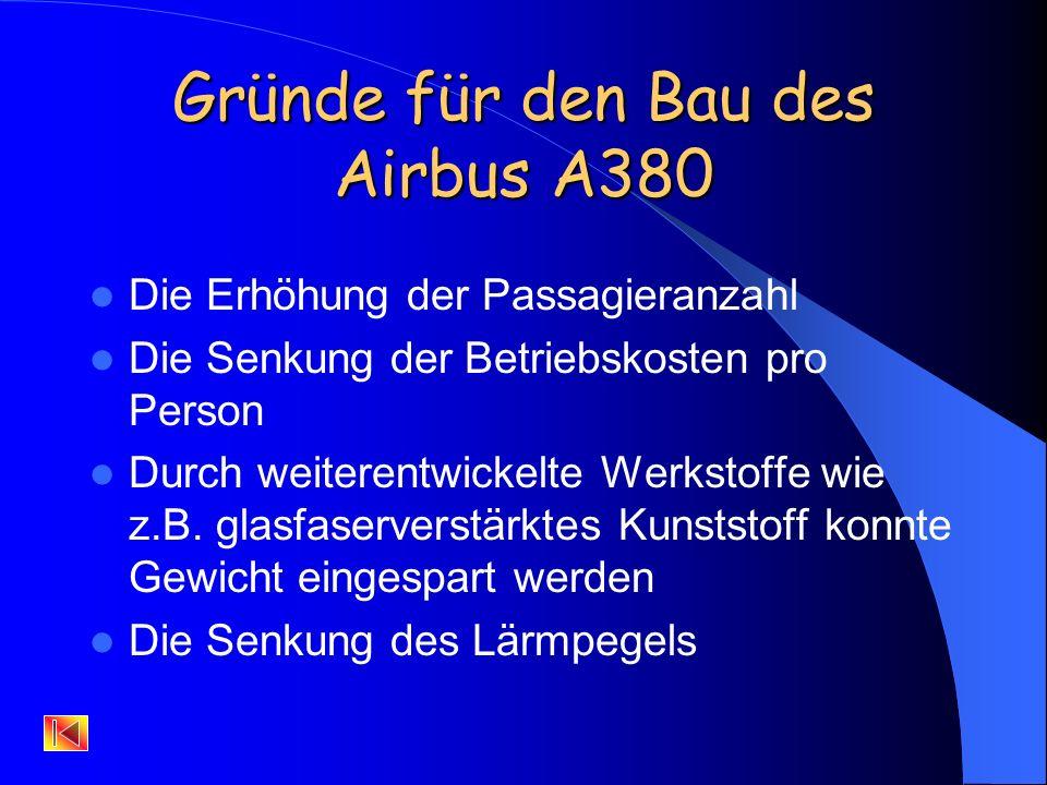 Gründe für den Bau des Airbus A380