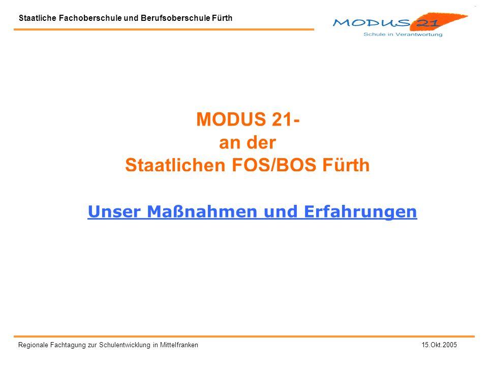 MODUS 21- an der Staatlichen FOS/BOS Fürth