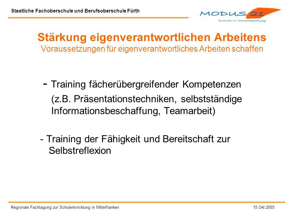 - Training fächerübergreifender Kompetenzen