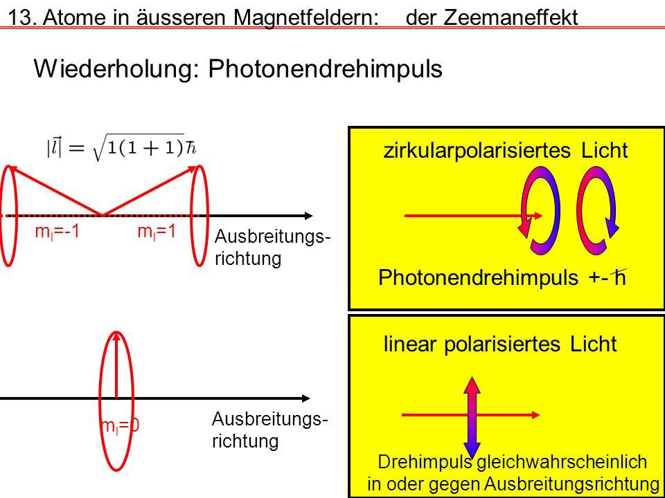 Wiederholung: Photonendrehimpuls