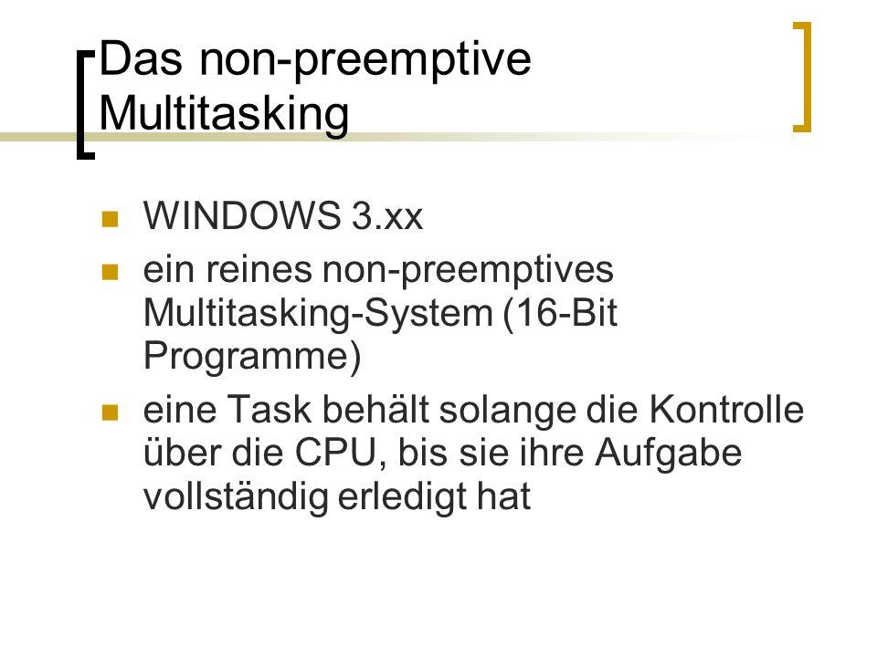 Das non-preemptive Multitasking