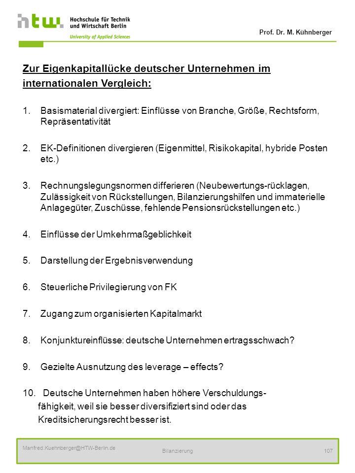 Zur Eigenkapitallücke deutscher Unternehmen im