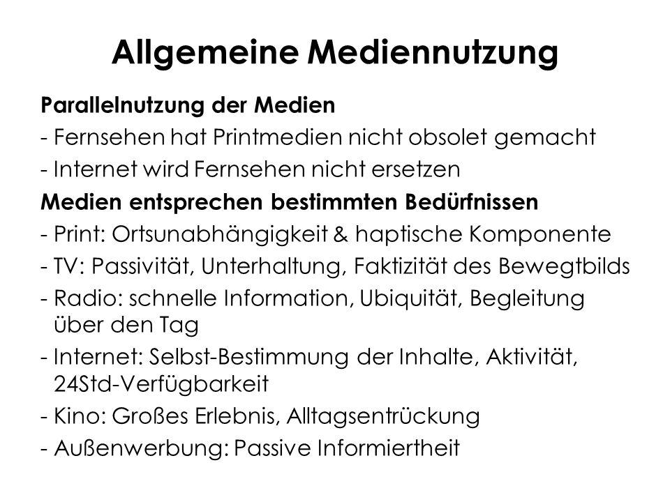 Allgemeine Mediennutzung