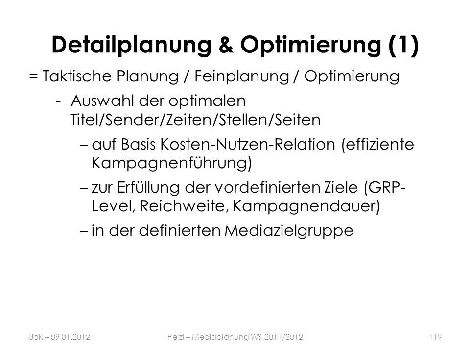 Detailplanung & Optimierung (1)