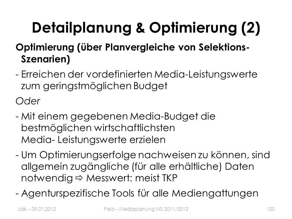Detailplanung & Optimierung (2)