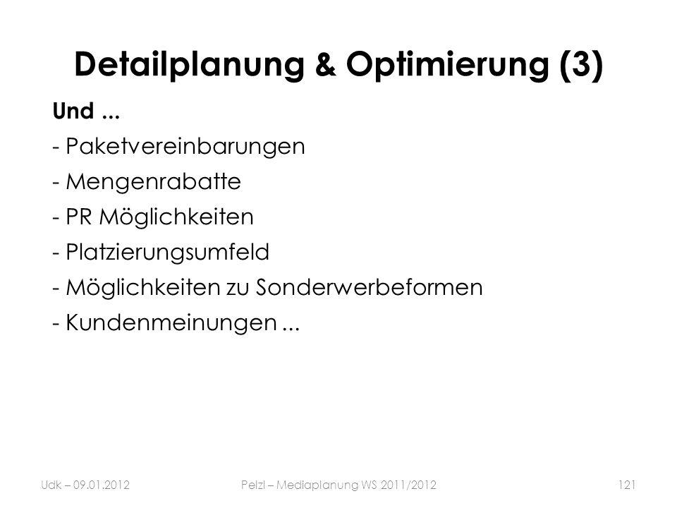Detailplanung & Optimierung (3)