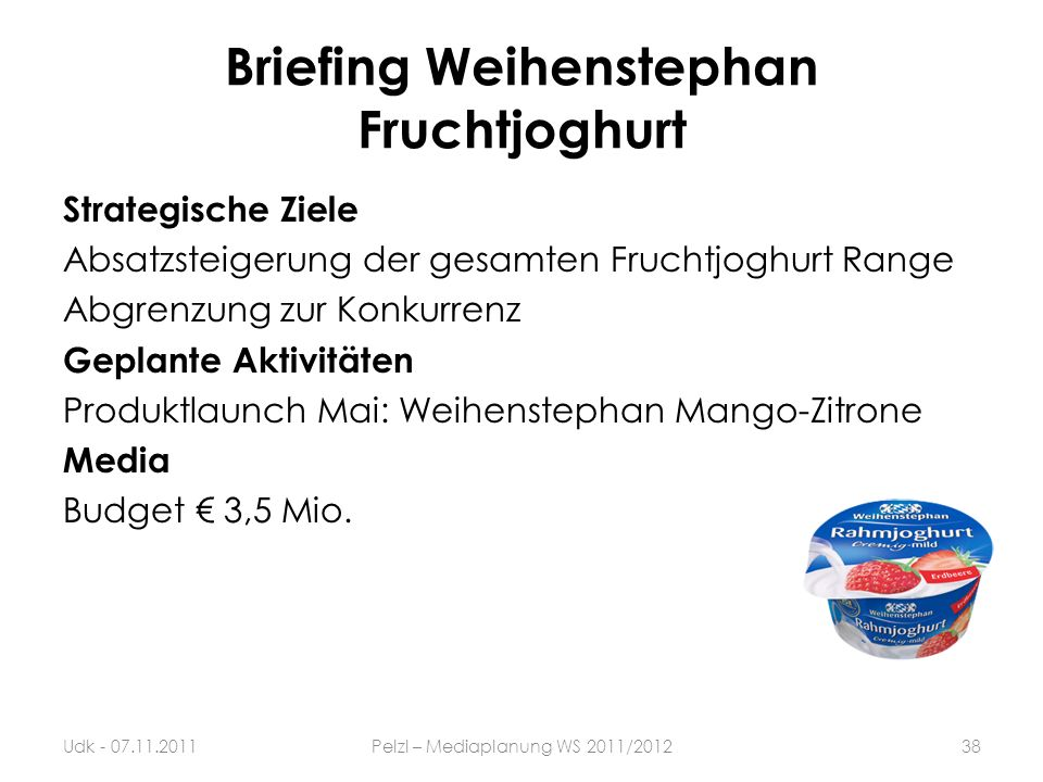 Briefing Weihenstephan Fruchtjoghurt