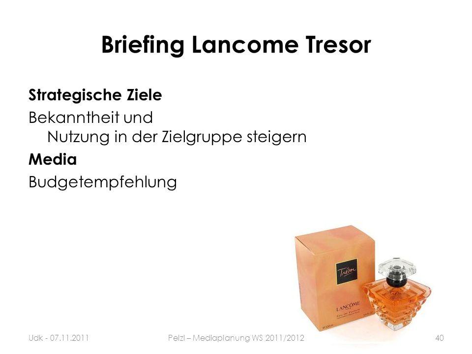 Briefing Lancome Tresor