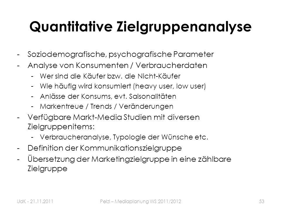 Quantitative Zielgruppenanalyse