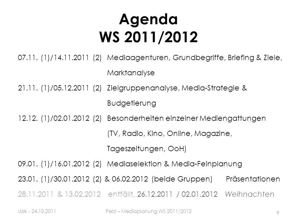 Pelzl – Mediaplanung WS 2011/2012