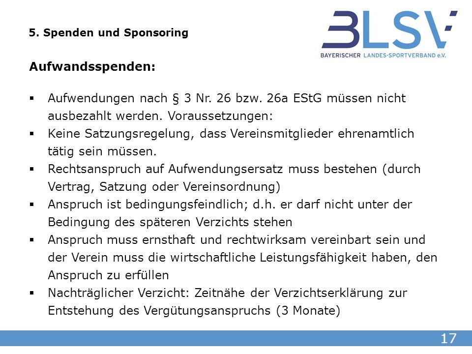 5. Spenden und Sponsoring